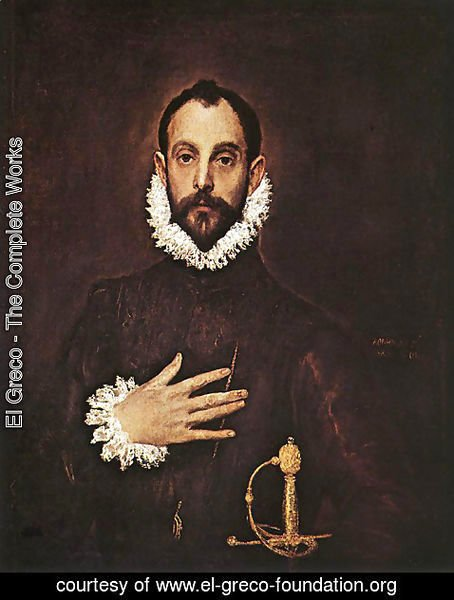 El Greco - The Knight with His Hand on His Breast
