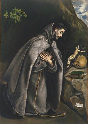 El Greco - St. Francis Venerating the Crucifix