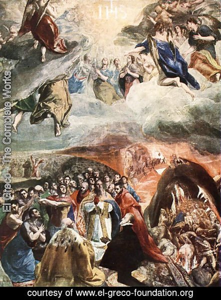 El Greco - Adoration of the Name of Jesus (Dream of Philip II)