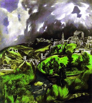 El Greco - A View of Toledo