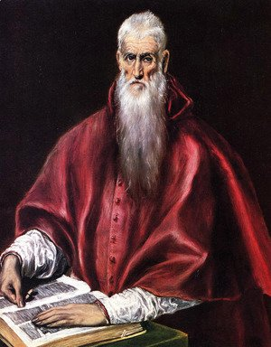 El Greco - St Jerome as Cardinal