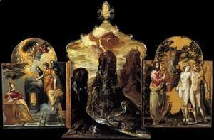 El Greco - The Modena Triptych (back panels)