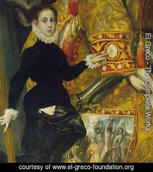 El Greco - The Burial of Count Orgaz (detail) 3