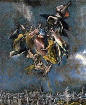El Greco - View and Plan of Toledo (detail)