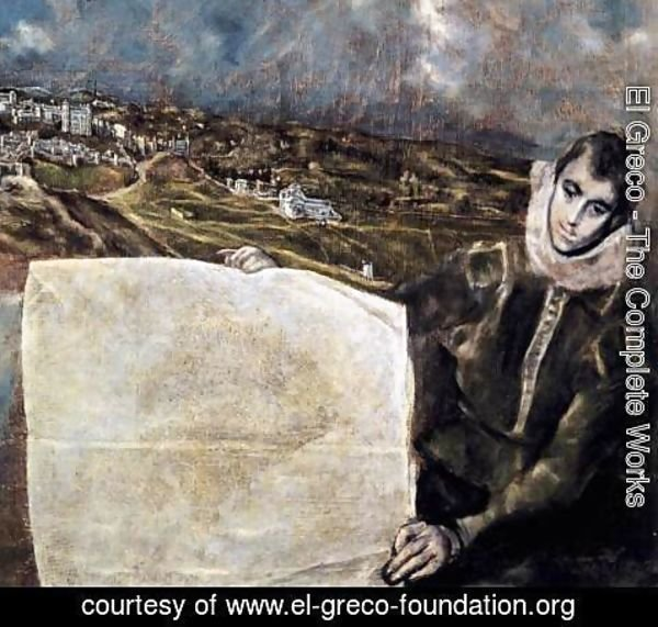 El Greco - View and Plan of Toledo (detail) 2