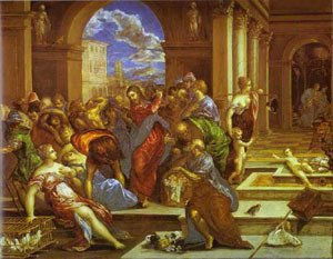 El Greco - Christ Driving The Traders From The Temple 1570