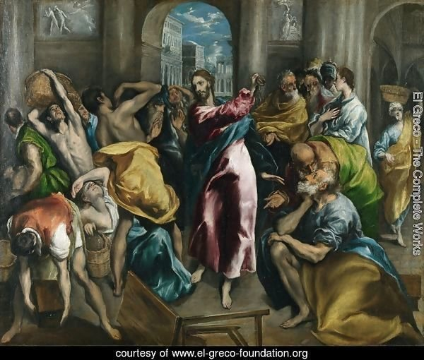 Christ Driving The Traders From The Temple C 1600