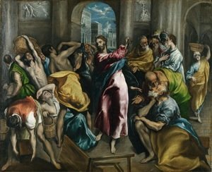 El Greco - Christ Driving The Traders From The Temple C 1600