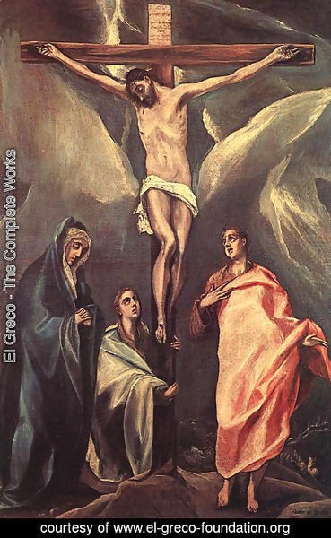 El Greco - Christ On The Cross With The Two Maries And St John 1588
