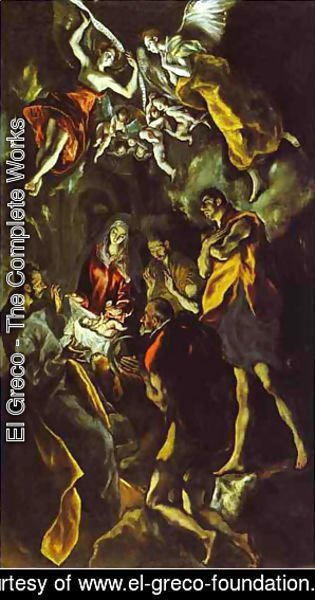 El Greco - The Adoration Of The Shepherds 1605