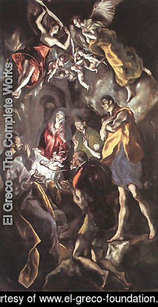 El Greco - The Adoration Of The Shepherds C 1614