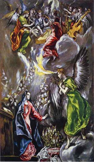 El Greco - The Annunciation 1590s