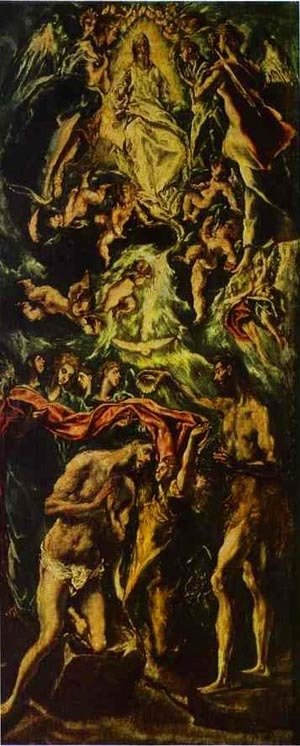 El Greco - The Baptism Of Christ 1590s