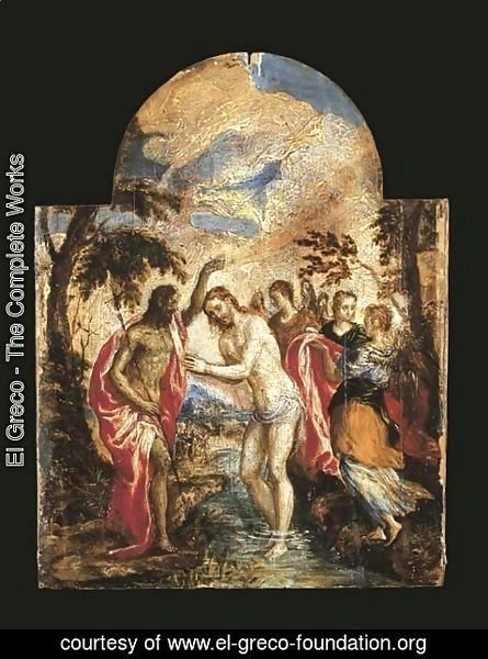 El Greco - The Baptism of Christ