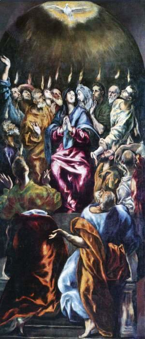 El Greco - Outpouring of the Holy Spirit