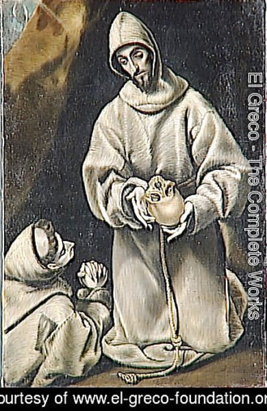 El Greco - St. Francis and brother Leo meditating on death