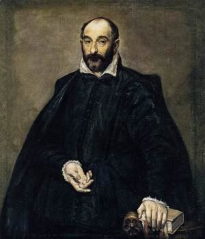 El Greco - Portrait of a man (Andrea Palladio)