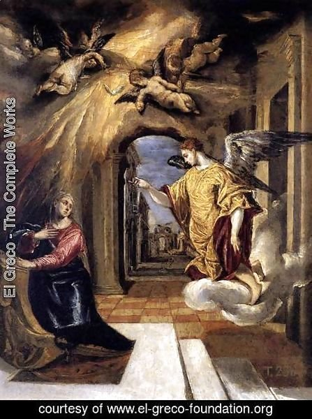 El Greco - The Annunciation c. 1570