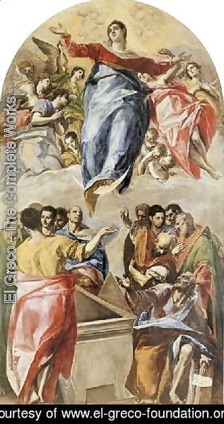 El Greco - The Assumption of the Virgin 1577