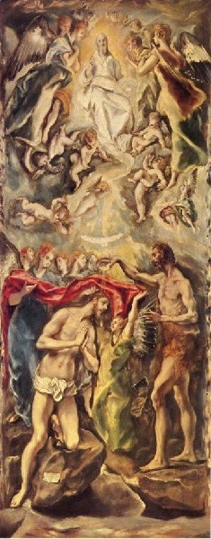 El Greco - Baptism of Christ 1596-1600