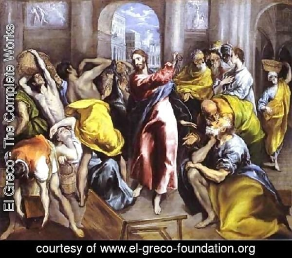 El Greco - Christ Driving The Traders From The Temple Ii