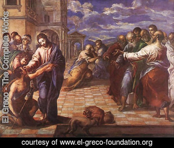 El Greco - Christ Healing the Blind c. 1567