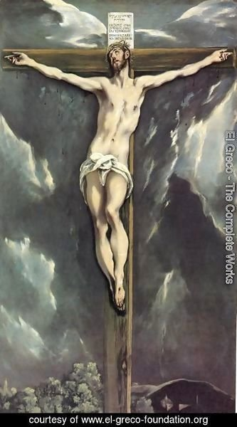 El Greco - Christ On The Cross With Landscapes