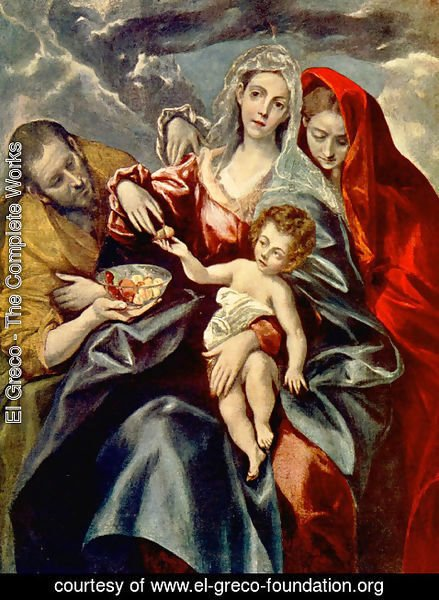 El Greco - The Holy Family with St Mary Magdalen 1595-1600