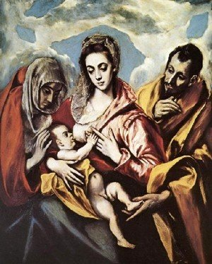 El Greco - Holy Family (The Virgin of the Good Milk)  1594-1604