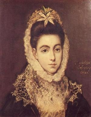 El Greco - Lady With A Flower In Her Hair