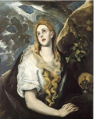 El Greco - Mary Magdalen in Penitence 1580-85