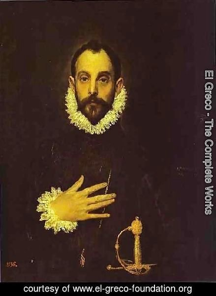 Portrait Of A Nobleman With His Hand On His Chest