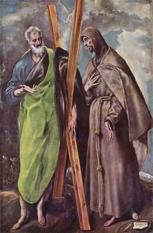 El Greco - St Andrew and St Francis 1595