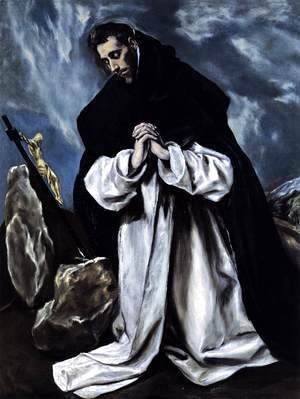 El Greco - St Dominic in Prayer 1586-90