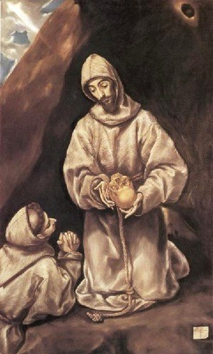 El Greco - St Francis and Brother Leo Meditating on Death 1600-02