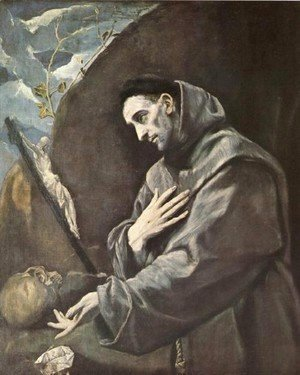 El Greco - St  Francis In Meditation