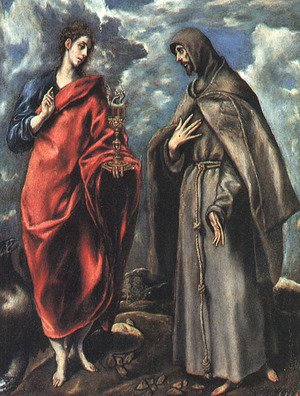 El Greco - Saints John the Evangelist and Francis, 1600