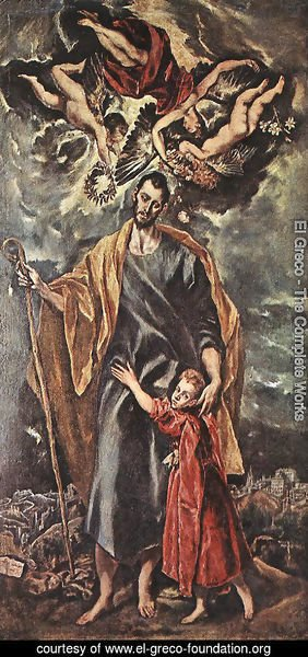 El Greco - St Joseph and the Christ Child 1597-99