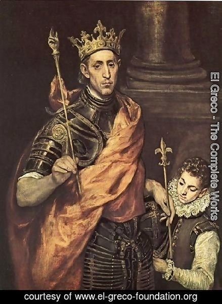 El Greco - St. Louis- King of France 1586-94