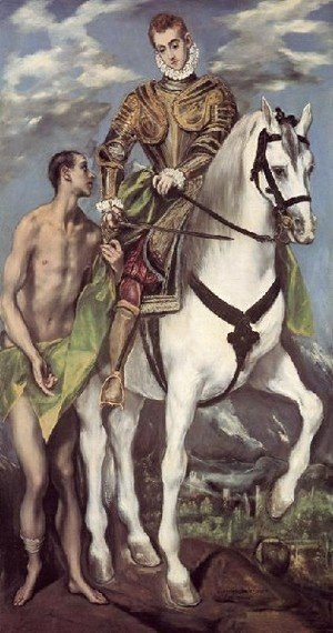 El Greco - St Martin and the Beggar 1597-99