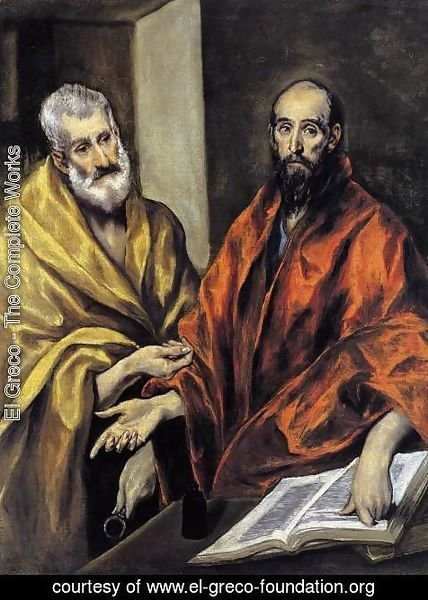 El Greco - Saints Peter and Paul 1605-08