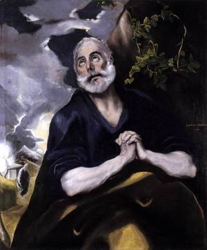 El Greco - St Peter in Penitence 1580s