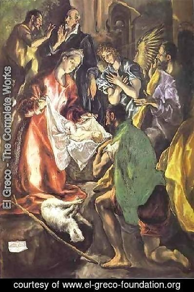 El Greco - The Adoration Of The Shepherds Ii