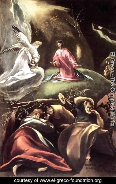 El Greco - The Agony in the Garden c. 1608