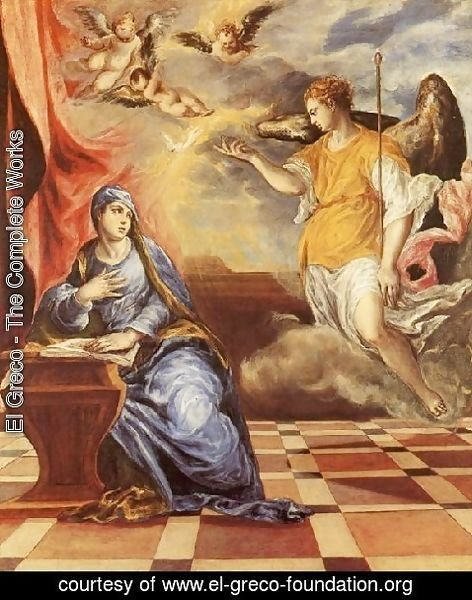 El Greco - The Annunciation c. 1576