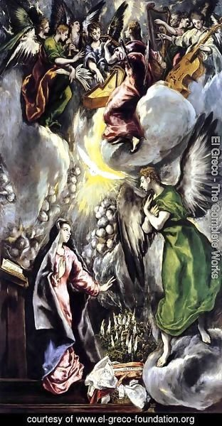 El Greco - The Annunciation 1596-1600