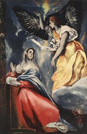El Greco - The Annunciation 1600s