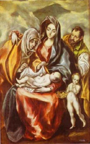 El Greco - The Holy Family 1594-1604