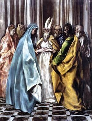 El Greco - The Marriage of the Virgin 1613-14