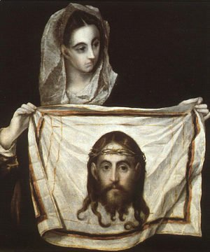 El Greco - The Complete Works - St Veronica Holding the Veil c. 1580 - el-greco-foundation.org